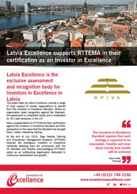 Latvia Excellence supports RTTEMA